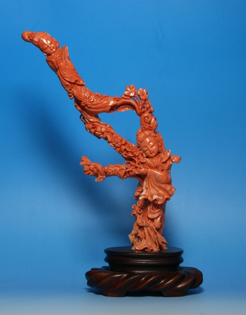 A Fine Chinese Qing Dynasty Coral Carving