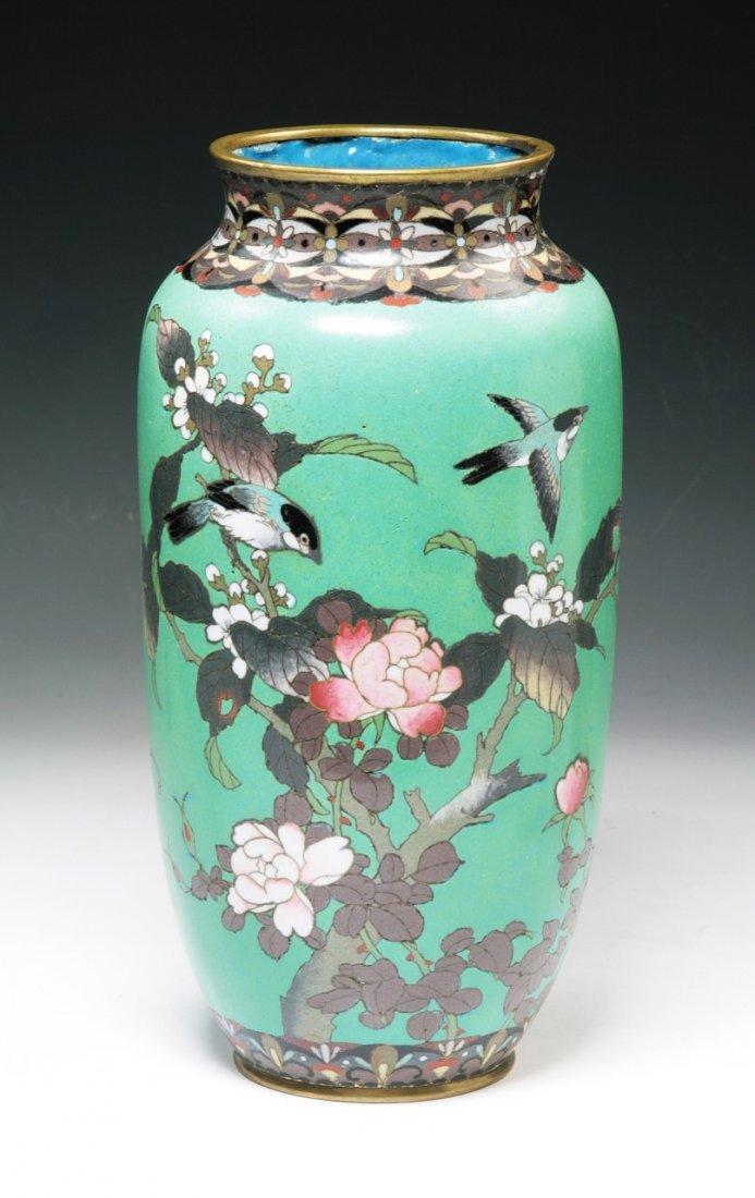 A Big Chinese Antique Cloisonne Bronze Vase