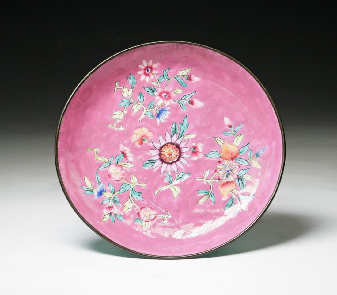 A Chinese Antique Cloisonne Bronze Plate