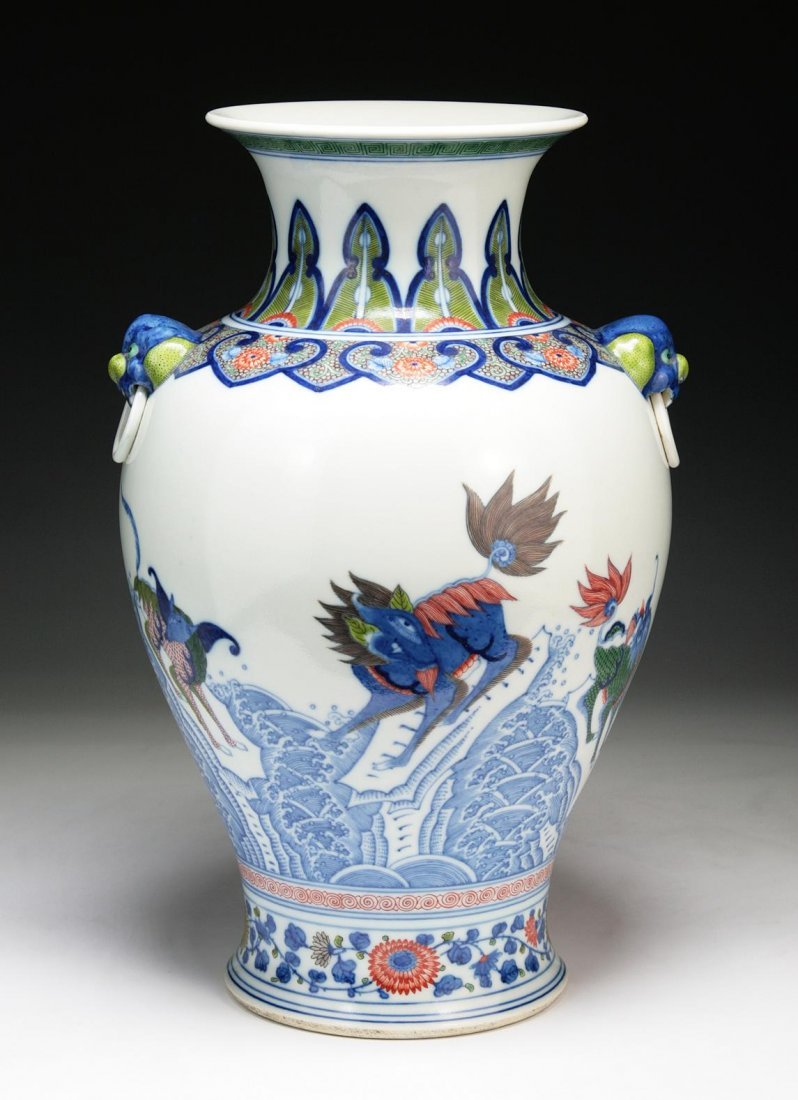A Fine & Big Chinese Antique Famille Verte Vase