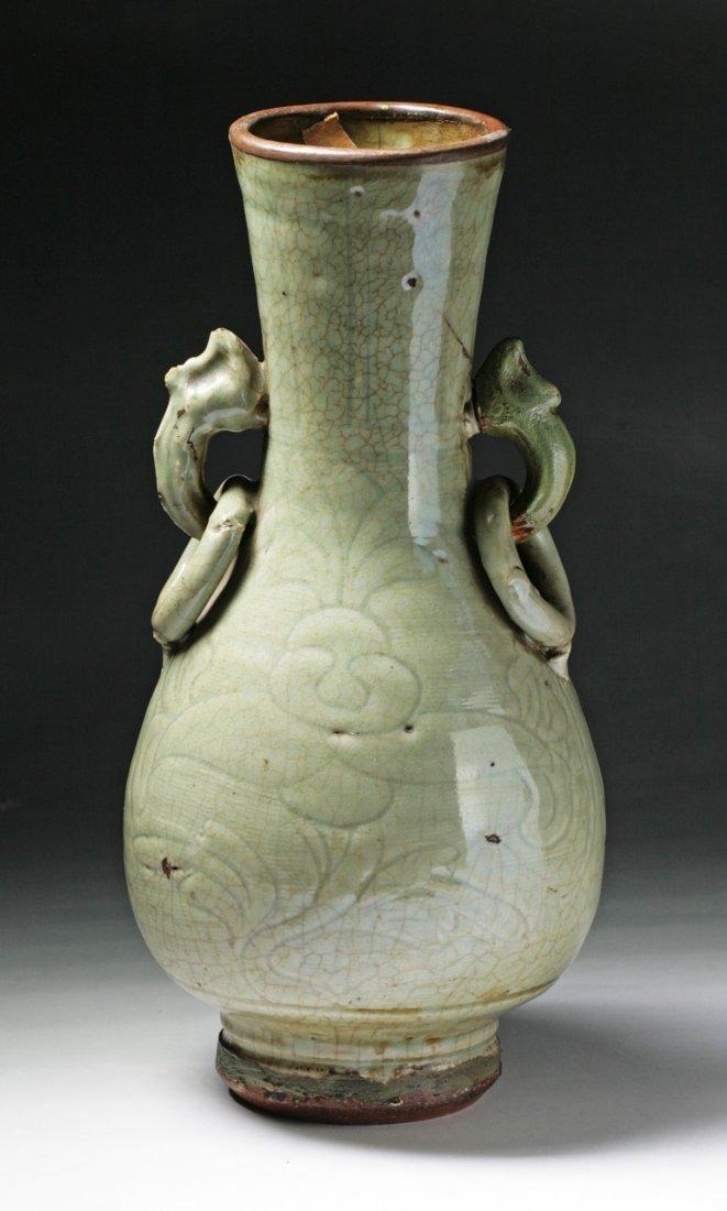a rare ming dynasty longquan porcelain vase