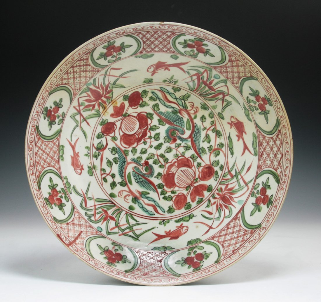 A Big Chinese Antique Kraak Porcelain Plate