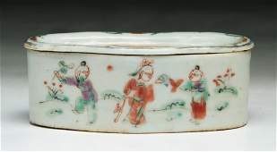 A Chinese Antique Famille Rose Porcelain Cricket Cage