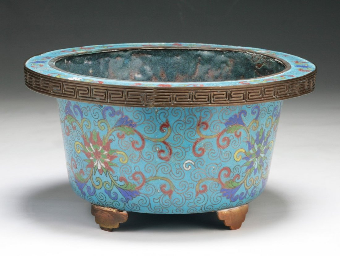 A Chinese Antique Cloisonne Bronze Bowl