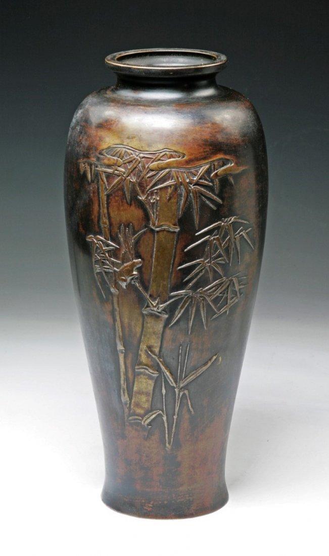 A Japanese Antique Bronze Vase