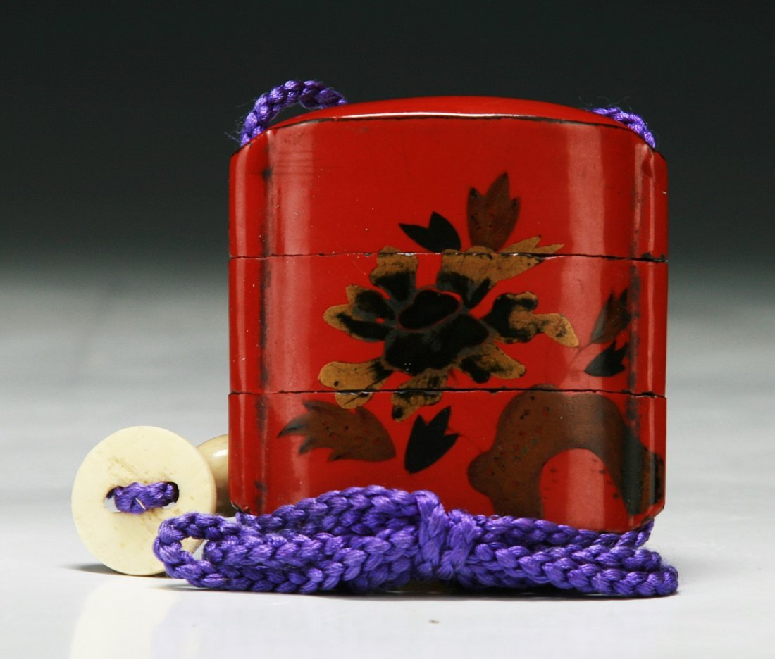 A Japanese Antique Cinnabar Lacquer Inro