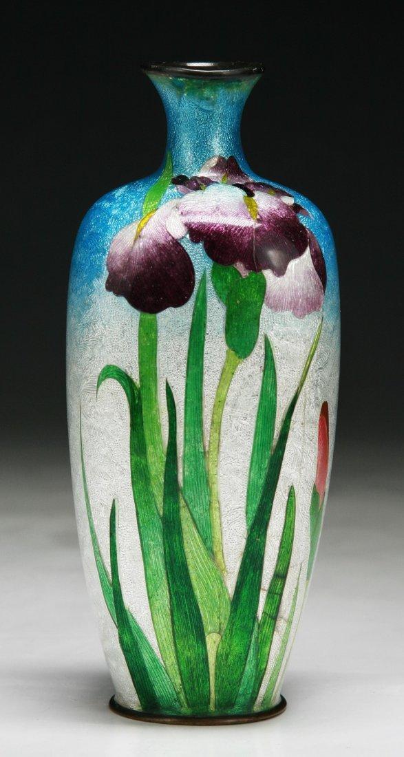 A Japanese Antique GINBARI Cloisonne Vase