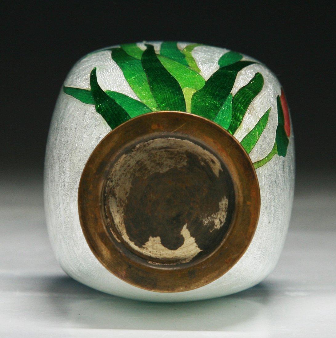A Japanese Antique GINBARI Cloisonne Vase - 3