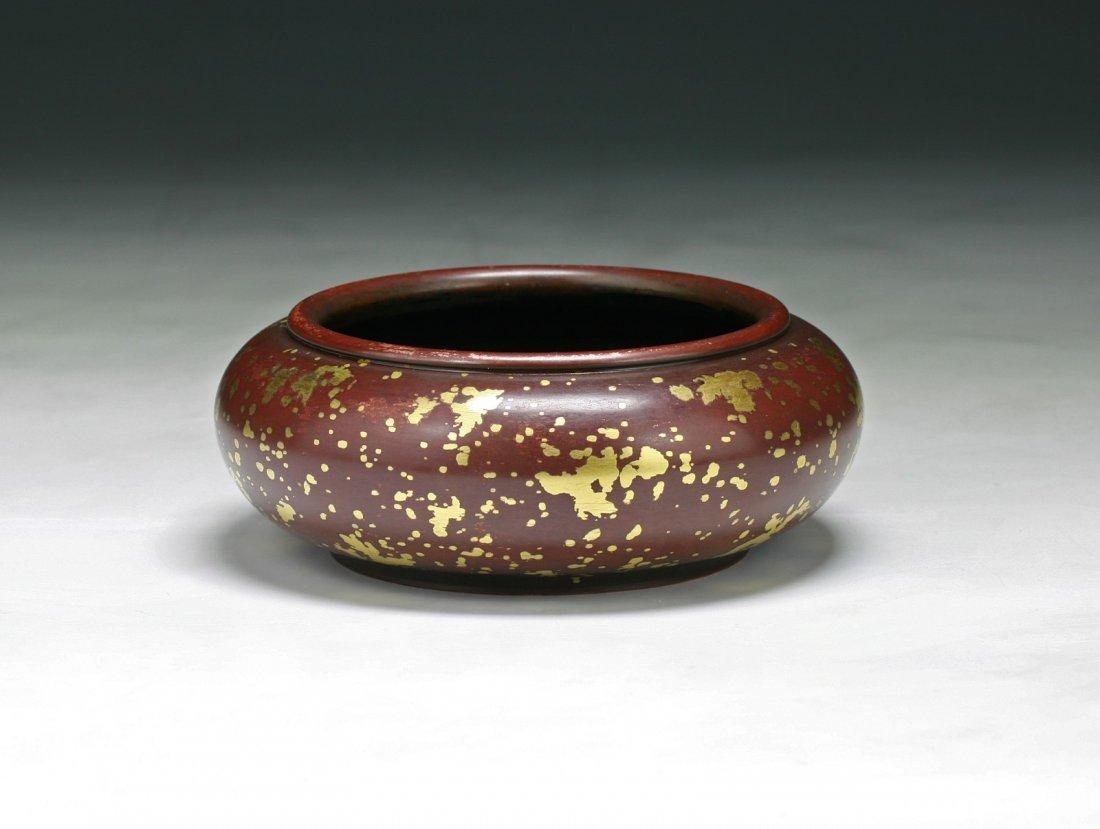 A Chinese Antique Rare Gilt Bronze Censer