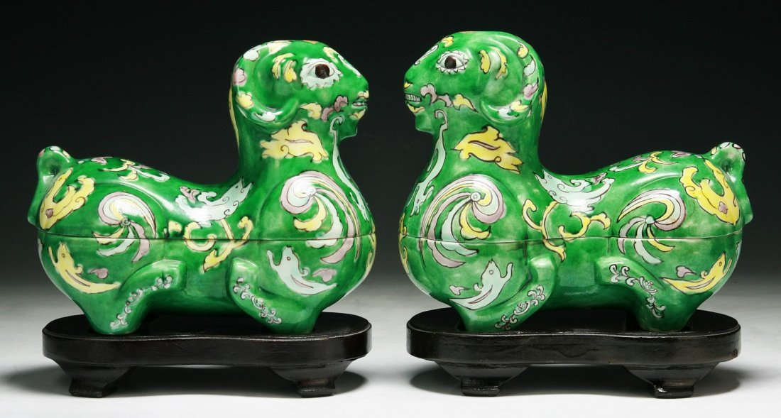 Pair of Chinese Antique Porcelain Tureens