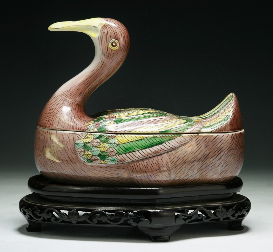 A Chinese Antique Porcelain Duck Tureen - 2