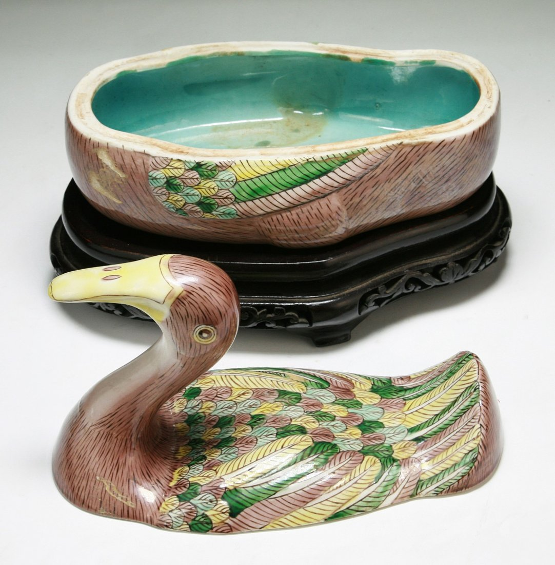 A Chinese Antique Porcelain Duck Tureen - 3