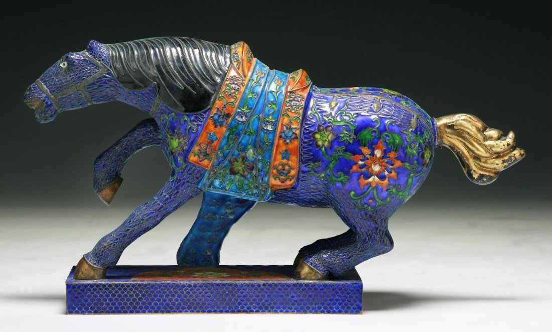 A Chinese Antique Cloisonne Horse