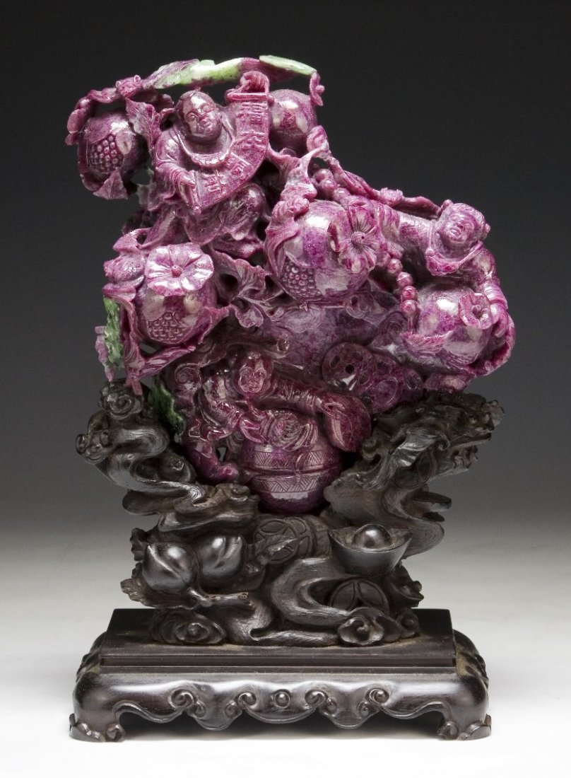 An Extremely Rare & Massive Ruby Matrix Carving,