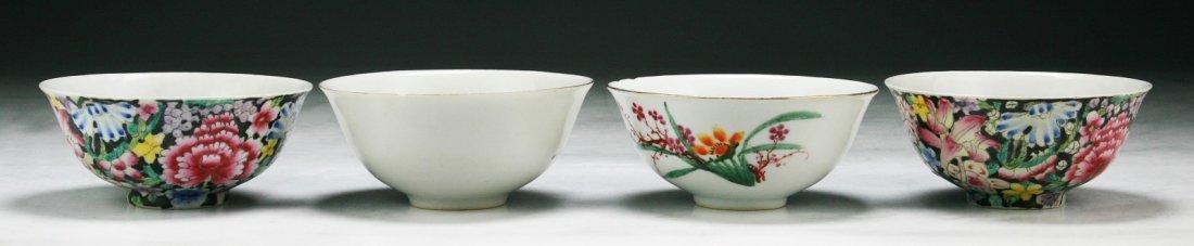 Four (4) Chinese Antique Porcelain Bowls