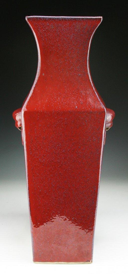 A Massive Chinese Antique Red Glazed Porcelain Vase