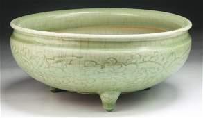 A Big Chinese Antique LONGQUAN Yao Porcelain Bowl