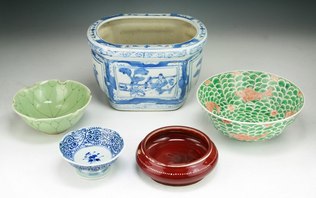 Five (5) Chinese Misc. Porcelain Items