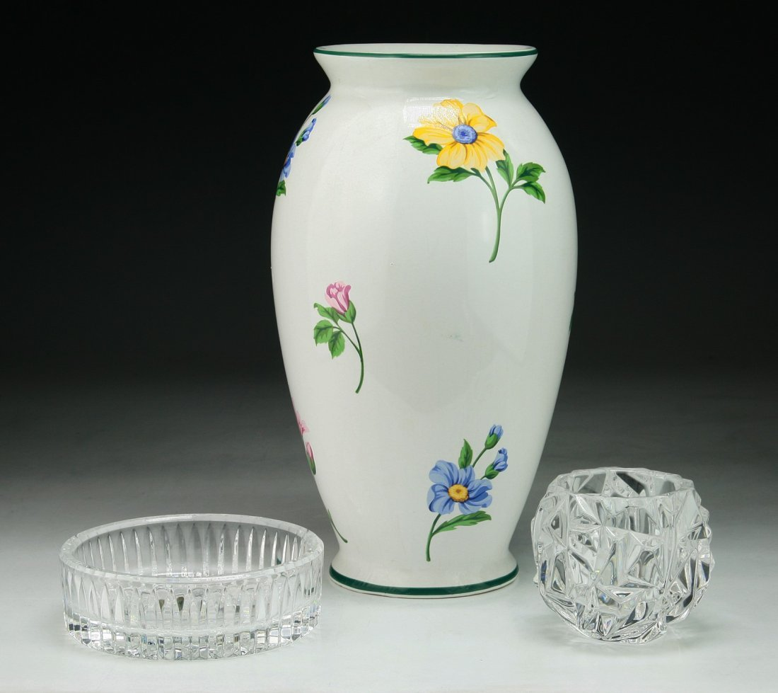 Three (3) Tiffany & Waterford Porcelain & Crystal Items