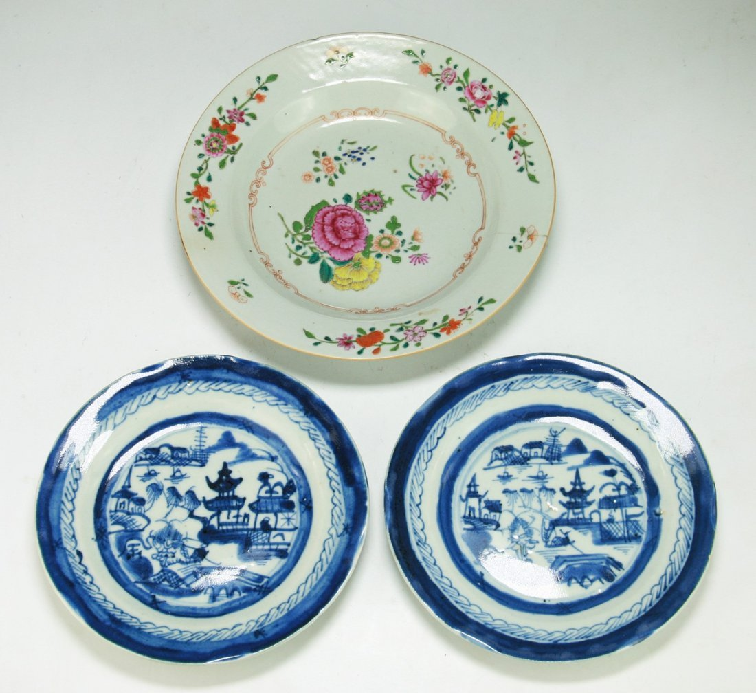 Two (2) Chinese Porcelain Plates