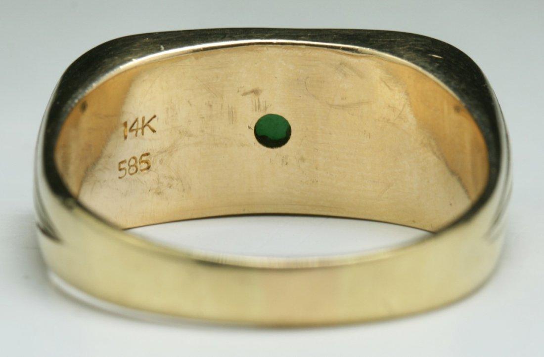 A Jadeite Men's Ring, 14K Gold Mark - 3