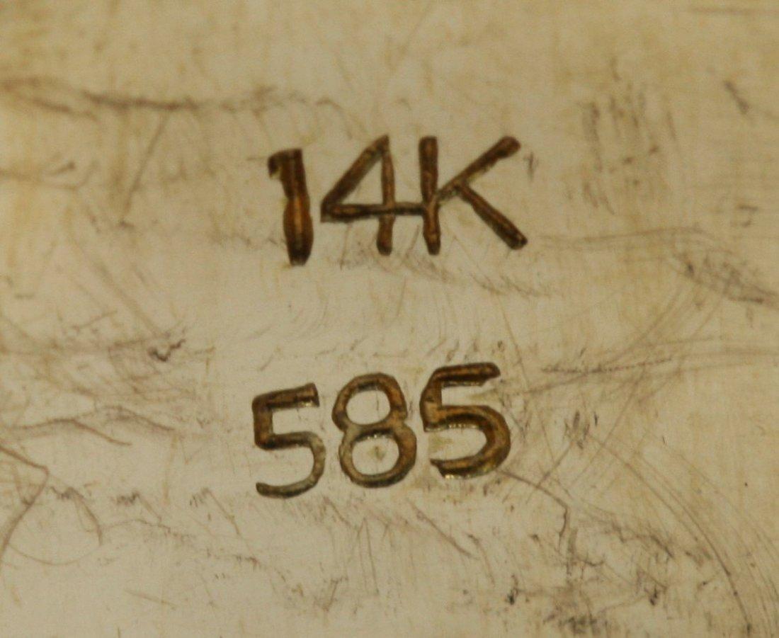 A Jadeite Men's Ring, 14K Gold Mark - 4