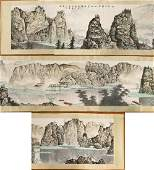 A Massive Chinese Unmounted Paper Painting By Bai