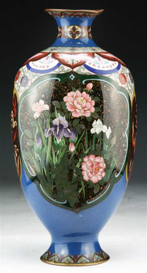 A Japanese Antique Cloisonne Vase