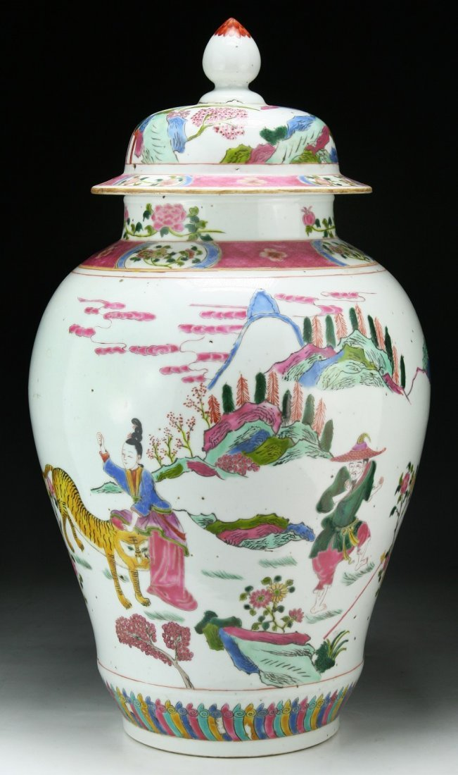 A Big Chinese Porcelain Vase With Cover