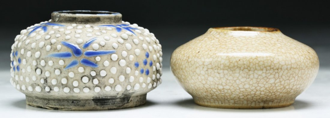 Two (2) Chinese Antique Porcelain Water Droppers