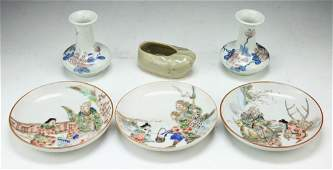 Six (6) Chinese Antique Porcelain Items