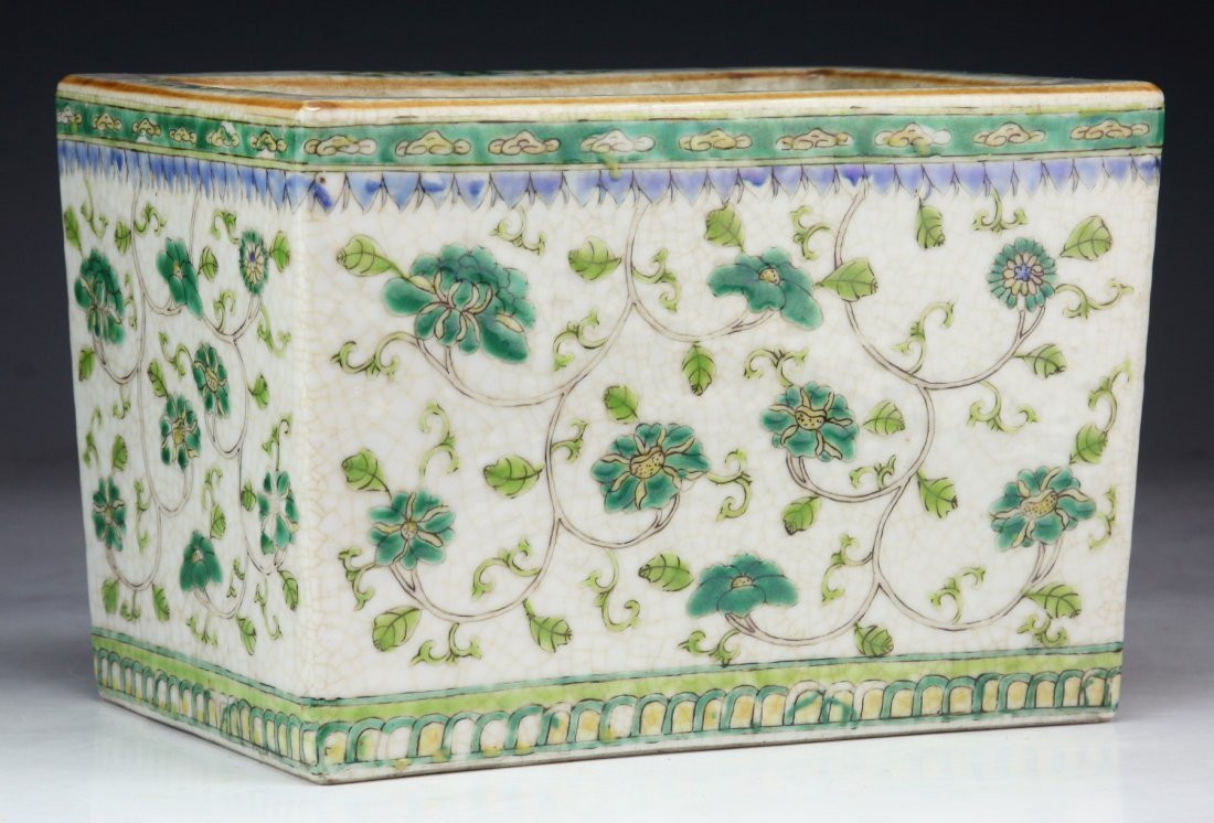 A Chinese Antique Famille Rose Square Porcelain Platter