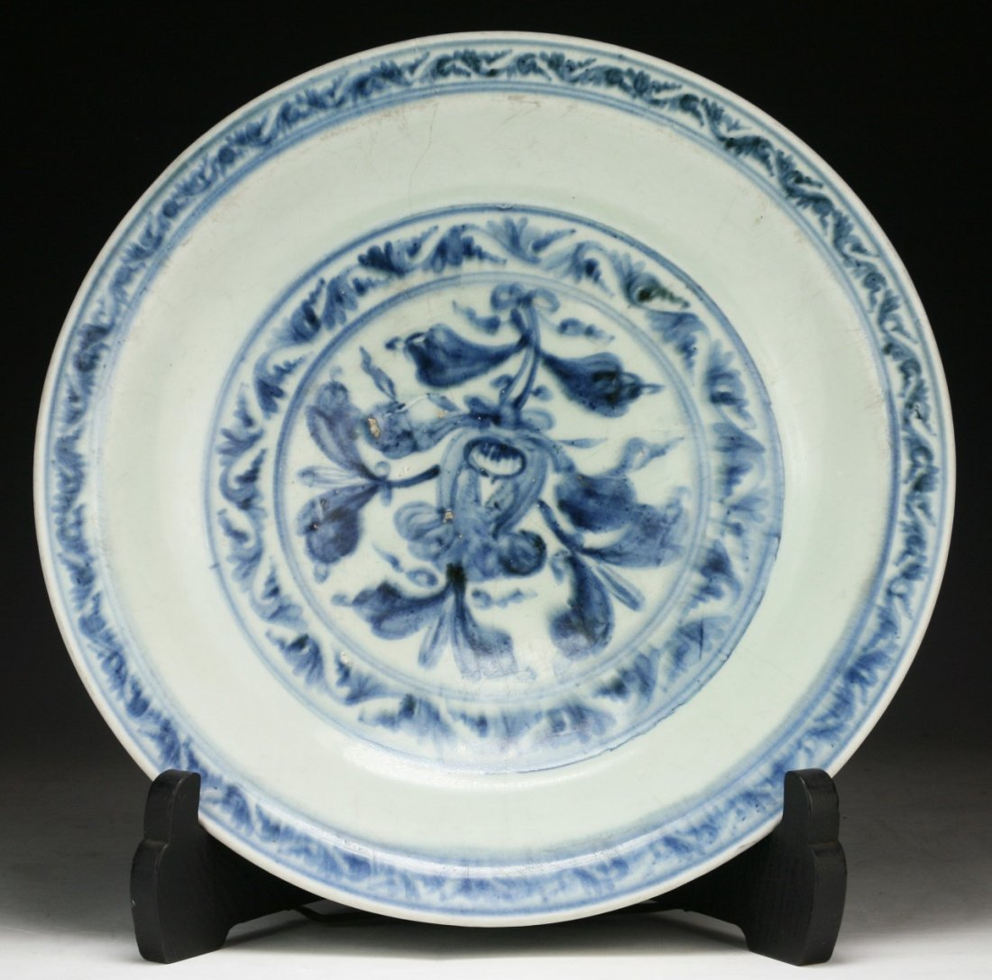 A Big Chinese Antique Cobalt Blue & White Porcelain
