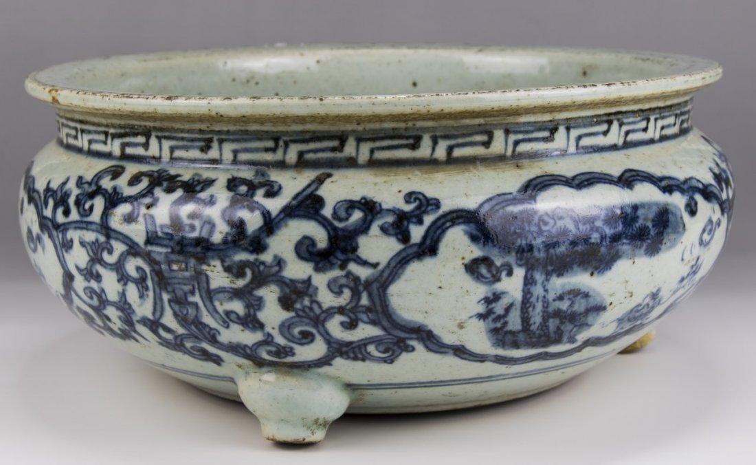 A Big Chinese Antique Blue & White Porcelain Censer