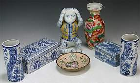 Seven 7 Mixed Chinese Porcelain Items