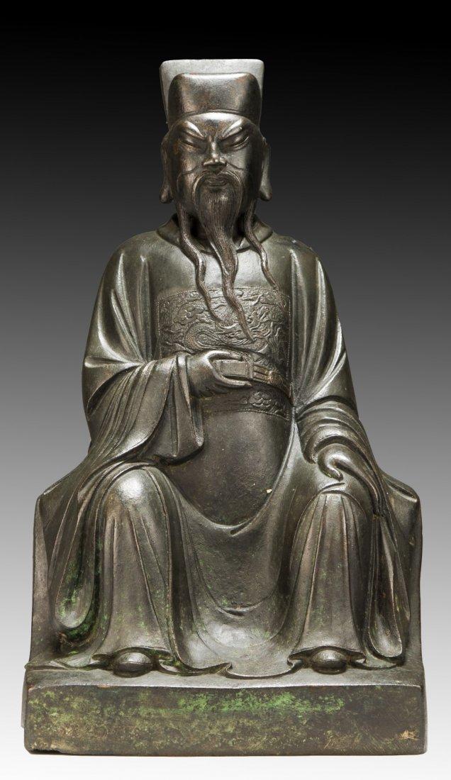 A Big Chinese Antique Bronze Figure