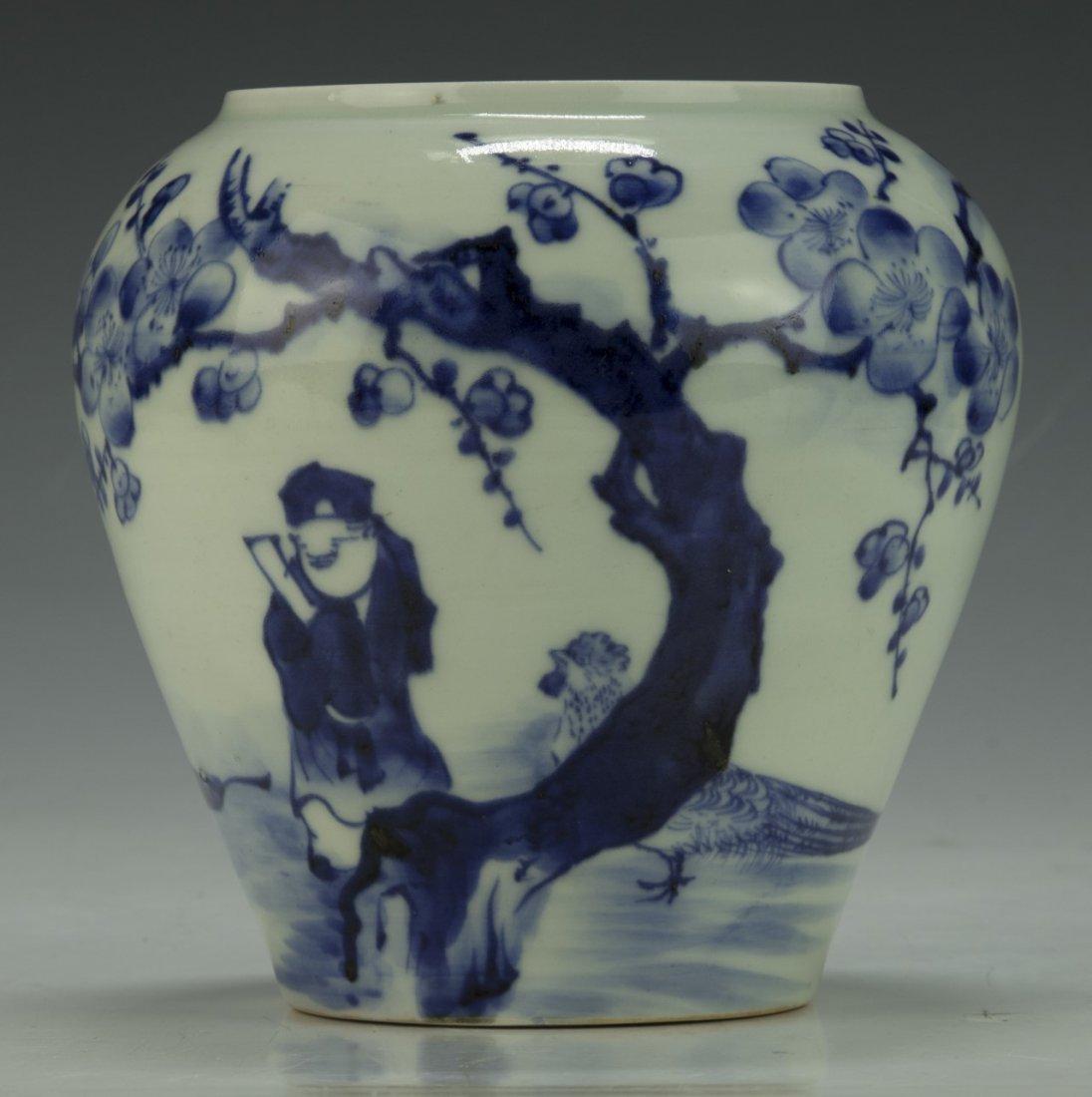 A Chinese Blue & White Porcelain Jar
