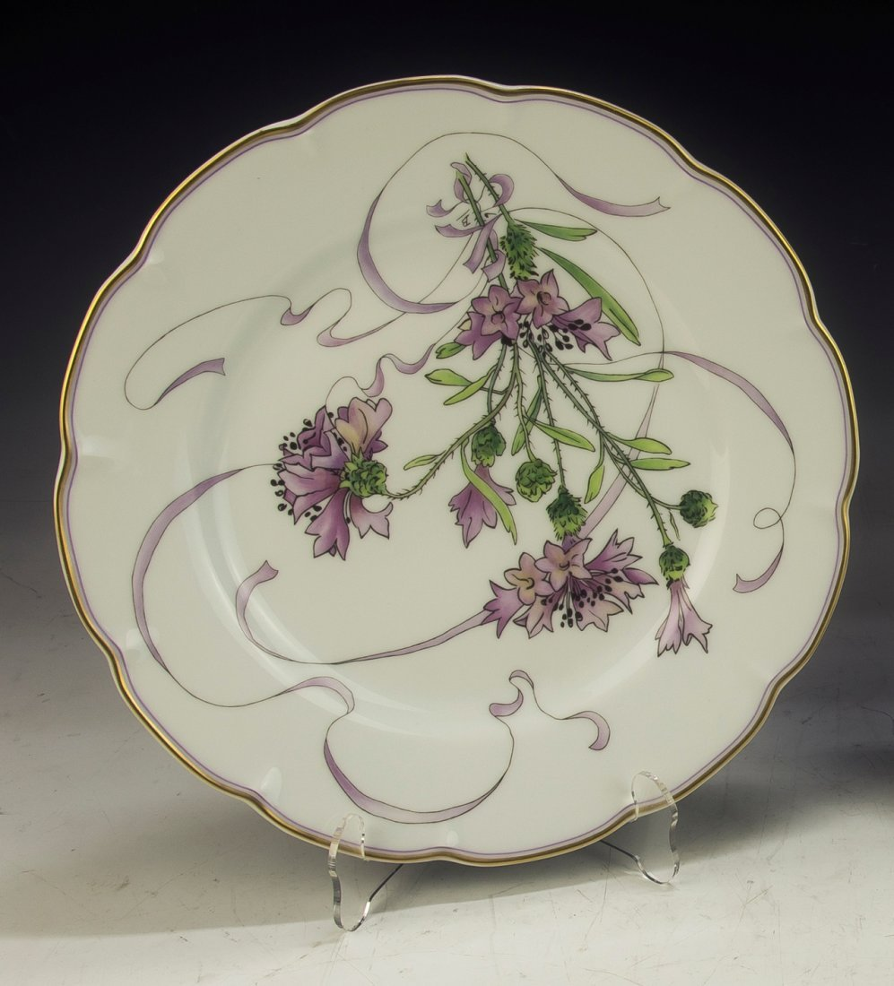 A French Porcelain Plate By Felix Bracquemond