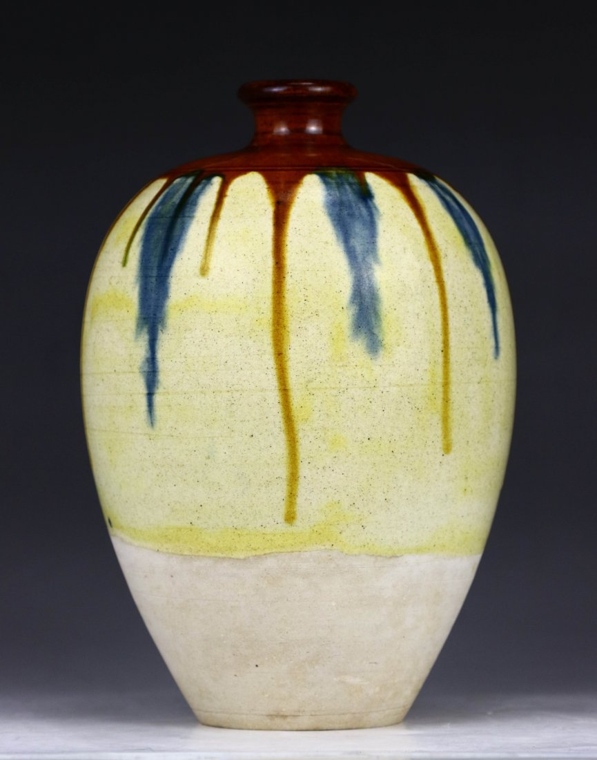 A Chinese Antique Sancai Porcelain Vase