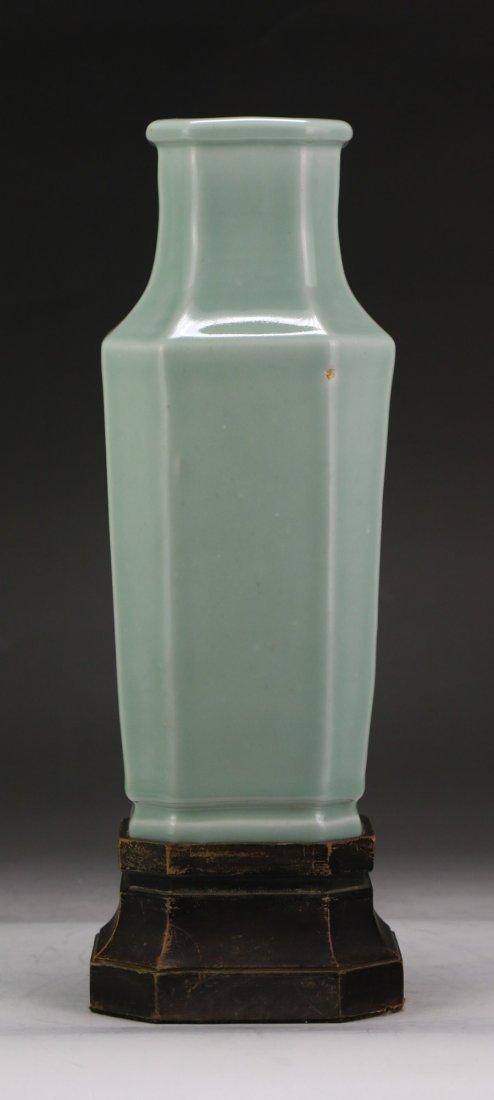 A Chinese Antique Celadon Glazed Porcelain Vase