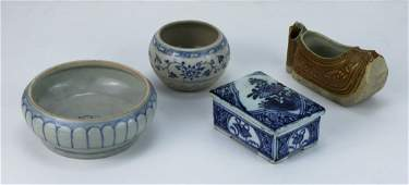 Four (4) Chinese Antique Porcelain Items