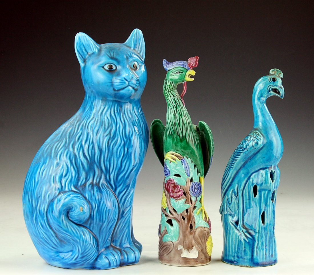Three (3) Chinese Porcelain Figures