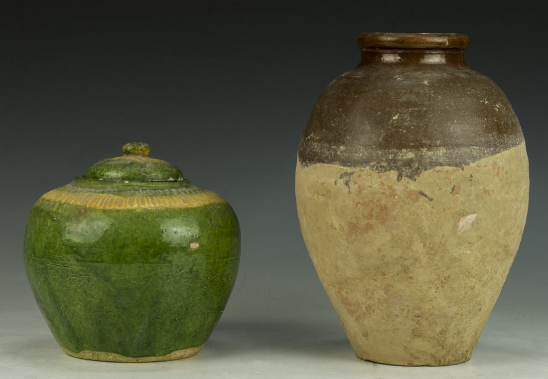 Two (2) Chinese Antique Pottery Vases