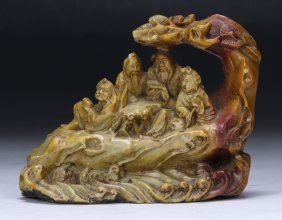 A Chinese Soapstone Carving