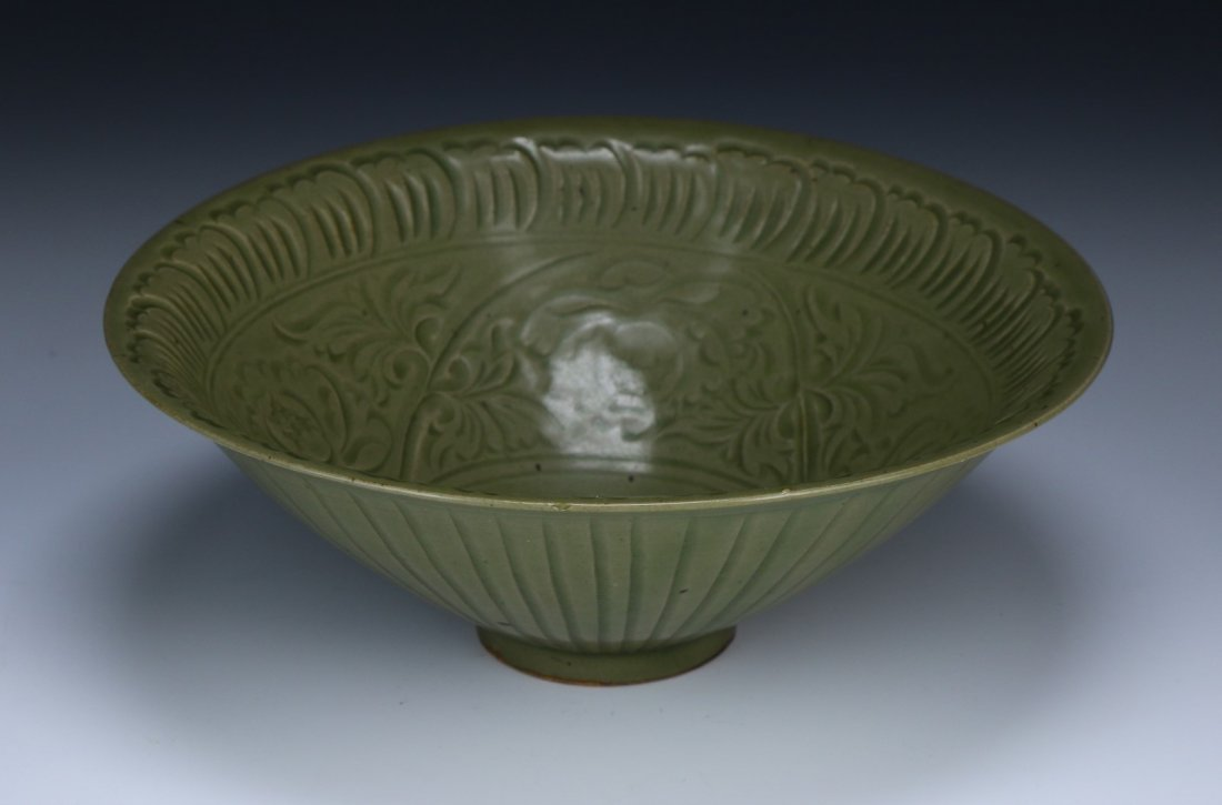 A Chinese Antique Yaozhou-Style Celadon Glazed