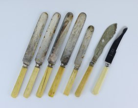 Seven (7) Antique Knives With Ivory Handles