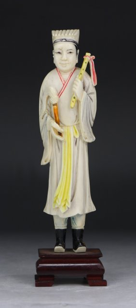A Chinese Antique Carved Ivory Figure