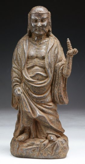 A Chinese Antique Bronze Luohan