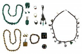 Fifteen (15) Mixed Precious Stone Jewelry Items