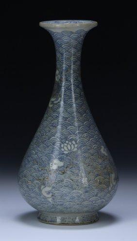 A Vietnamese Antique Blue & White Porcelain Vase